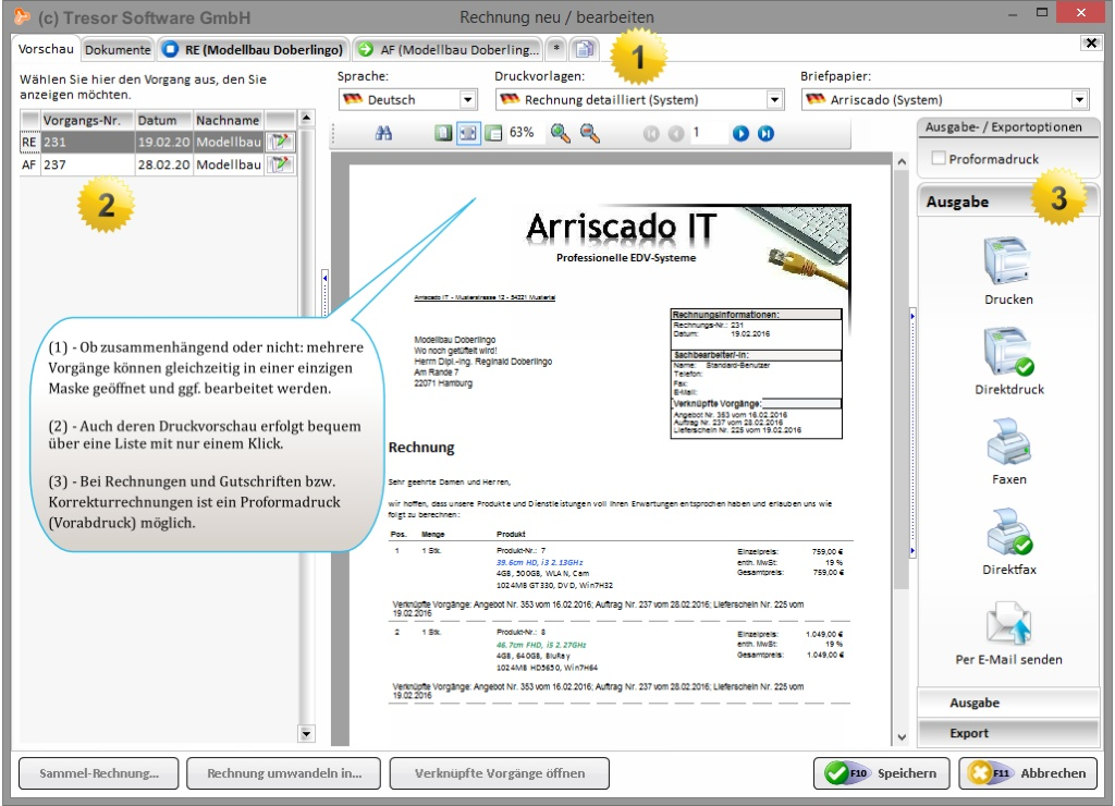 Einfache Rechnungsverwaltung-Software für Selbstständige, KMU ...