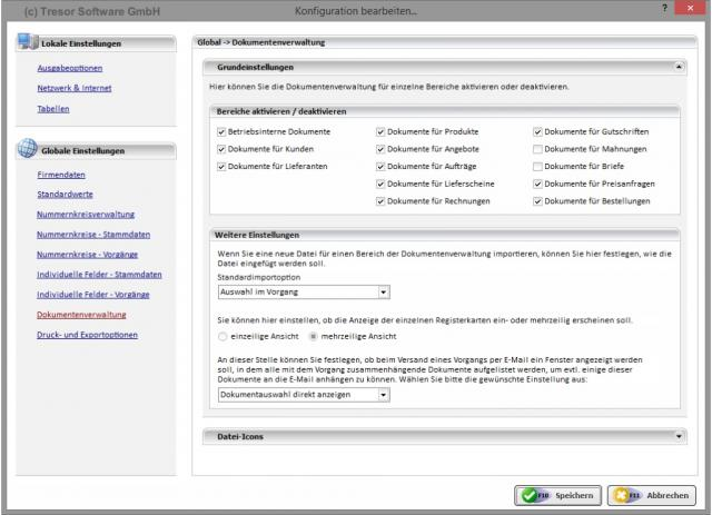 Konfiguration - Dokumentenverwaltung